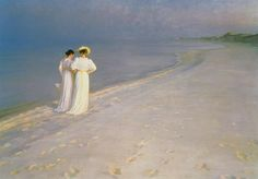 Peter Severin Krøyer ~ A Summer Afternoon on Skagen Beach ~ (Danish: 1851-1909)