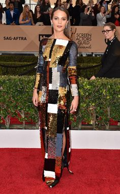 <p>And shimmering to boot! Alicia shined arguably as bright as her budding celebrity in Louis Vuitton at the 2016 SAG Awards. </p>