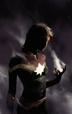Lonely Planets Carol Danvers, aka Captain Marvel by Dave Seguin. #comics #art