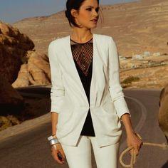 veste blanche decontractée