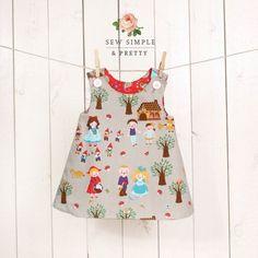 Free Toddler Dress Sewing Patterns Girls A Line Dress Pattern Easy Toddler Reversible Dress