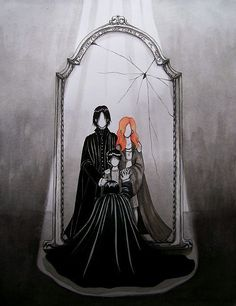 Snape's Mirror of Erised. Oh mag oodles, I'm crying. Meant to say mahgoodness but mag oodles is much better.