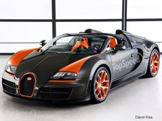Bugatti Veyron Grand Sport Vitesse WRC has made the record as the fastest convertible in the entire world. #6 top fastest