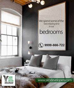 Best apartments on NH-24 We spend some of the best relaxing time in our bedrooms – sleeping, snuggling, reading, lounging – and it really should be a heaven #SKBGroup #nh24 #Real_estate #ghaziabad #apartments www.skbdevelopers.com