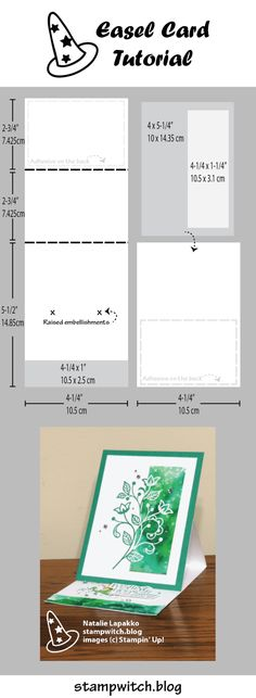Easel card tutorial by Natalie Lapakko. Features Flourishing Phrases stamps from Stampin' Up! http://amzn.to/2tGTF0k