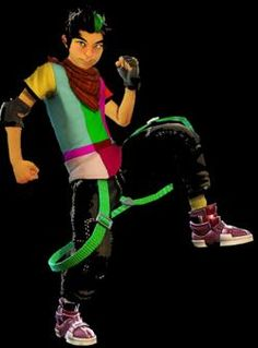 The awesome 16-year old Glitch from Xbox's Dance Central series. I LOVE YOU GLITCH, WHY AREN'T YOU REAL AND 10 YEARS OLDER?!