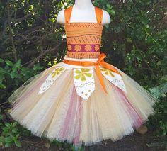 Handcrafted Moana Inspired Tutu Dress Moana Dress Moana