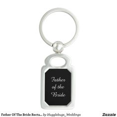 Father Of The Bride Rectangle Metal Keychain