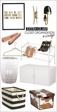 Glam Closet Organization on a Budget