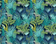 Tendance foret tropicale Papier peint Kipling (Pierre Frey)