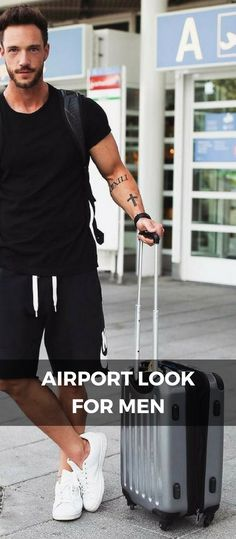 New travel outfit men airport style Ideas Travel Outfit Summer Airport, Winter Travel Outfit, Travel Outfits, Summer Travel, Airport Outfits, Airport Look, Airport Style, Outfit Stile, Thailand Outfit
