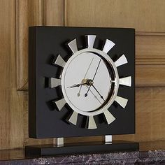 Petal Clock #interiorhomescapes #globalviews #clock #time #accessory #decor #home #interior #luxury #elegant #black