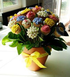Flower Pot Cake Bouquet Tutorial