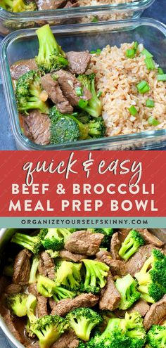 Easy Beef and Broccoli {meal prep recipe} – Organize Yourself Skinny Easy Healthy Beef & Broccoli Stir Fry (Healthy Meal Prep Bowls) Healthy Beef And Broccoli, Broccoli Beef, Broccoli Recipes, Shrimp Recipes, Easy Healthy Meal Prep, Easy Healthy Recipes, Easy Meals, Healthy Eating, Healthy Meal Prep Lunches