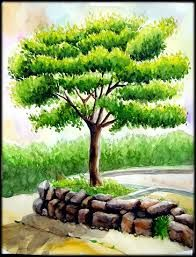 Landscape art drawing easy Ideas for 2019 – Drawing 2020 Drawing Scenery, Scenery Paintings, Oil Pastel Paintings, Oil Pastel Art, Oil Pastel Drawings, Watercolor Landscape Paintings, Landscape Drawings, Cool Landscapes, Colorful Drawings