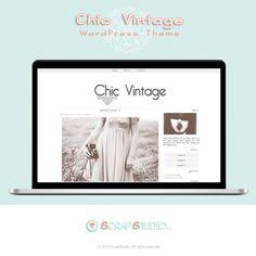 Chic Vintage Tema WordPress Diseño Plantilla por @ScrapStudioES