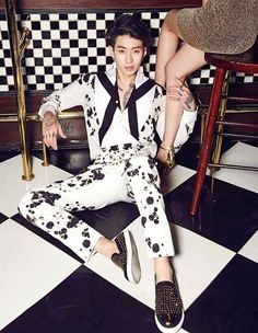 Singer and rapper Jay Park was recently featured in a pictorial for fashion magazine 'InStyle' where he transformed into a playful yet sexy bachelor i… Jay Park, Park Jaebeom, Namjoon, Hoseok, Jaebum, Suho, Korean American, Instyle Magazine, Cosmopolitan Magazine