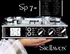 Reel to Reel Tape Recorder Manufacturers - Stellavox tape recorders - Museum of Magnetic Sound Recording Cd Audio, Hifi Audio, Vintage Designs, Retro Vintage, Vintage Modern, Vintage Stuff, Gear Art, Tape Recorder, Sound & Vision