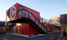 the versatility of the shipping container - Pop-Up architecture