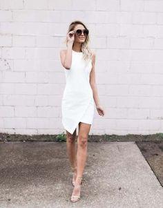 Dress classy white dress, white dress outfit, little white dresses White Dress Outfit, White Outfits, Dress Outfits, Fashion Dresses, Emo Fashion, Emo Outfits, Lolita Fashion, White Fashion, Fashion Clothes