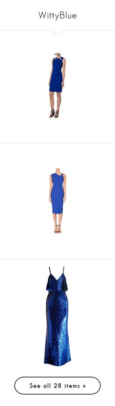 """WittyBlue"" by fandom-girl365790 ❤ liked on Polyvore featuring dresses, cobalt, cut-out shoulder dresses, knee length dresses, cold shoulder dresses, cut out shoulder dress, sheath dresses, dark blue, stretch sheath dress and sleeveless sheath dress"