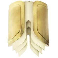 Warren Platner Custom  Brass & Painted Steel Chandelier for an important commission. #midcenturymodern #lighting #jpwarreninteriors