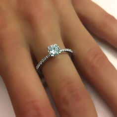 Diamond Engagement Ring Natural Round Cut Diamond 14k by ldiamonds