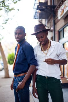 IT'S THE TWINS AGAIN! 21 year old models and fashion bloggers Jalan and Jibril Durimel