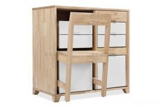 This innovative cabinet has been created by Uruguayan industrial designer Claudio Sibille. The piece merges storage with seating in one comp...