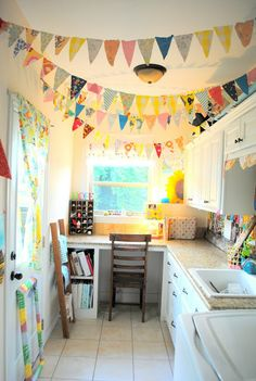 I like the streamers. The Rosy Life: Two mini-makeovers