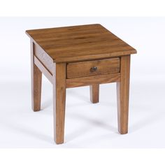 Put this end table next to the living room sofa, and suddenly you have the perfect spot to keep magazines, books, and game controllers. The natural oak finish gives this piece a tastefully weathered l