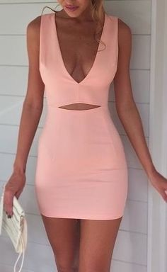 Sexy cut out bodycon dress