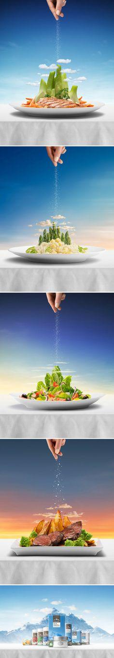 一组盐的广告,高大上!摄影师 Nikla...