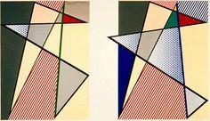 """""""Imperfect Diptych"""", 1988, Roy Lichtenstein"""