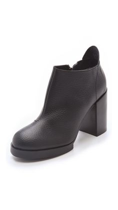 Cheap Monday Layer Chunky Heel Booties.  I got these and they don't fit right.  And they look a little... cheap.  I think I'm done with Cheap Monday.