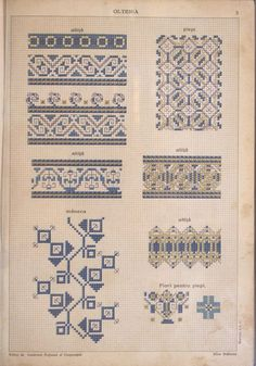Costumul Romanesc - Румынский нар.. Creative Embroidery, Folk Embroidery, Embroidery Patterns, Cross Stitch Patterns, Stitch Crochet, Blackwork, Folk Art, Needlework, Diy And Crafts