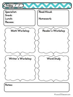 Preschool daily lesson plan template lesson plan for Year at a glance template for teachers