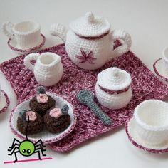 Amigurumi Tea Set pattern on Craftsy.com