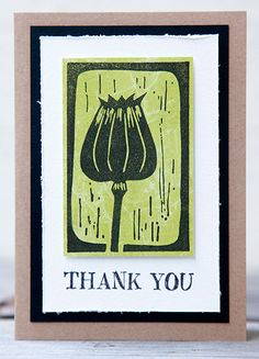 Card by Rachel Greig using Darkroom Door Carved Pods Rubber Stamps and Thank You Rubber Stamps.