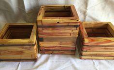 Wooden Boxes flame box elder black walnut handmade planter flower pot home decor