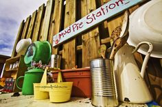 Mud pie station??  I would have died and gone to heaven if I had this back in the day!