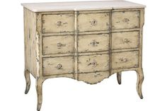 Nightstand French Heritage - M-1302-402-GSB Sandrine Commode/Chest