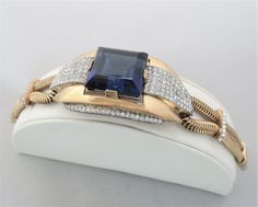 Sapphire Stone, Costume Jewelry, Jewerly, Designers, Vintage, American, Bracelets, Jewlery, Schmuck