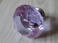 Lavender Glass Knobs / Dresser Knobs / Drawer Pulls Purple Kitchen Cabinet Knobs by LynnsGraceland, $7.00
