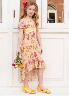 Joyfolie Girls Delphine Dress in Yellow Cute Little Girls Outfits, Little Girl Dresses, Girl Outfits, Girls Dresses, Fashion Kids, Baby Girl Fashion, Baby Girl Party Dresses, Toddler Girl Dresses, Toddler Girls