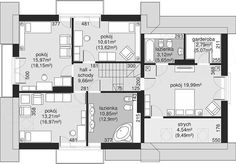 Unique Country House Plan With Four Bedrooms And Three Bathrooms - House And Decors Office Building Architecture, Home Building Design, Building A House, Dream Home Design, Home Design Plans, House Design, Four Bedroom House Plans, Modern House Floor Plans, Beautiful Small Homes