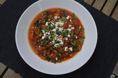 Mexican Lentil Stew. Personally I love lentils.. but they have to be disguised for kids.