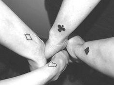 Tatoo naipes ♠♥♣♦