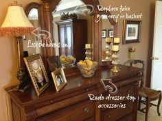 Hudson Extra-Wide Dresser, Mahogany stain | Hanging mirrors ...