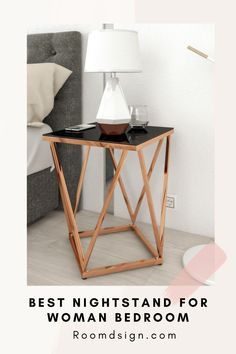 Our interior design expert review the best nightstand table for woman bedroom Pink Furniture, Home Decor Furniture, Rose Gold Bedroom Accessories, Home Decor Inspiration, Decor Ideas, Rose Gold Decor, Woman Bedroom, Beautiful Bedrooms